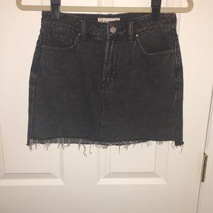 Black pac sun distressed denim skirt size 23